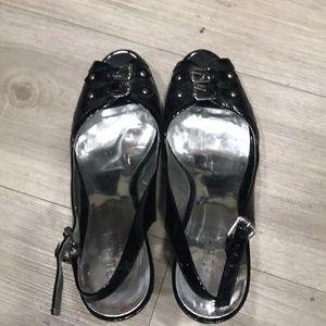 "Guess 5"" black heels size 8M"